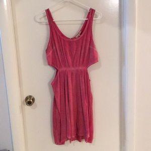 Side cut out mini dress